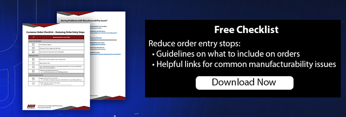 Customer Checklist to Reduce Order Entry Stops