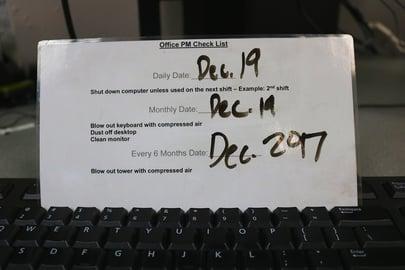 Personal Maintenance List