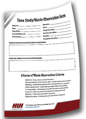 Time Study - Waste Observation Form