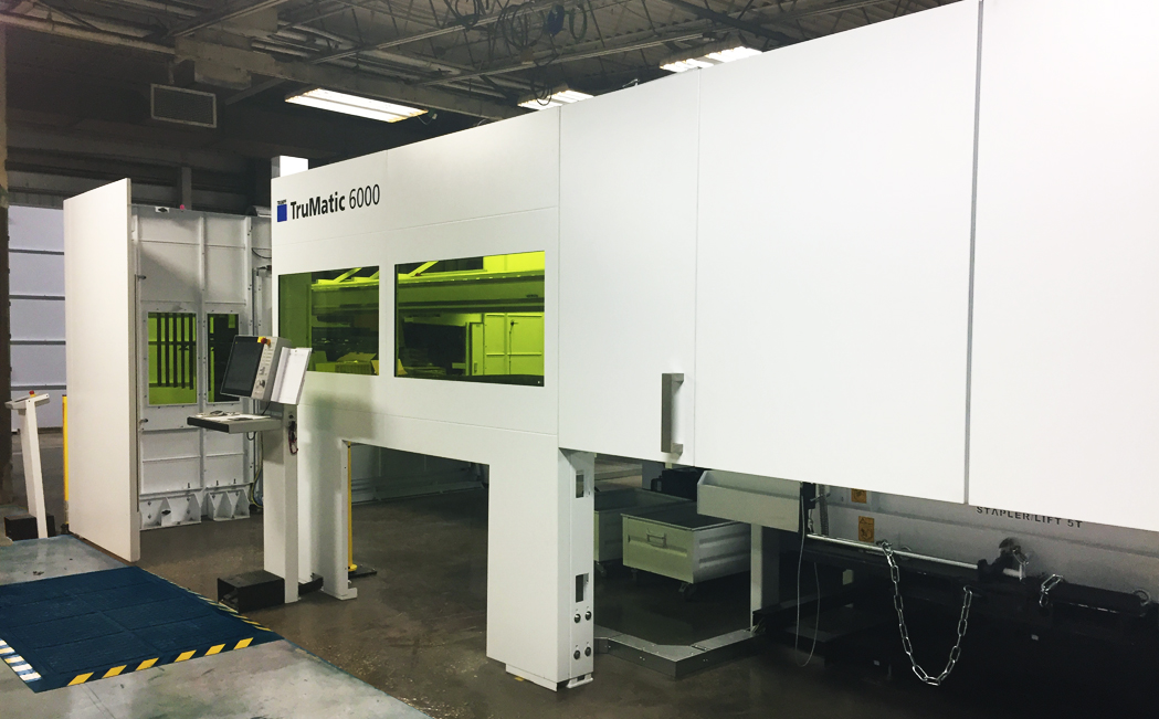 TruMatic 6000 TRUMPF Machine at HUI Manufacturing