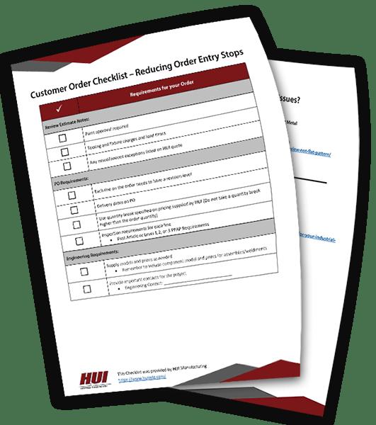 Customer Order Checklist