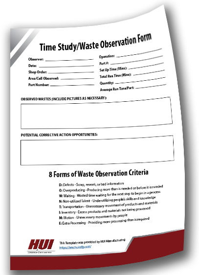 Time Study/Waste Observation Form